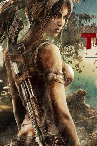 iPhone Wallpaper Tomb Raider Reborn