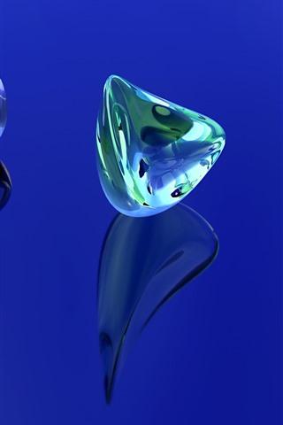 iPhone Papéis de Parede Cristal 3D, colorido, imagem criativa