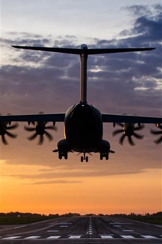 iPhone Wallpaper Airbus A400M Atlas plane flight, airport
