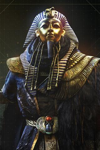 iPhone Wallpaper Assassin's Creed: Origins, The Curse of The Pharaohs, Tutankhamun