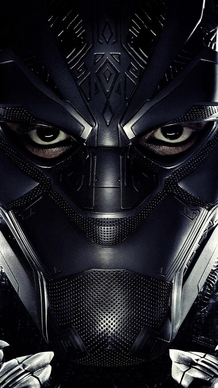 Black Panther Mask Superhero 1080x1920 Iphone 8 7 6 6s