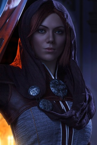 iPhone Wallpaper Dragon Age: Inquisition, beautiful girl