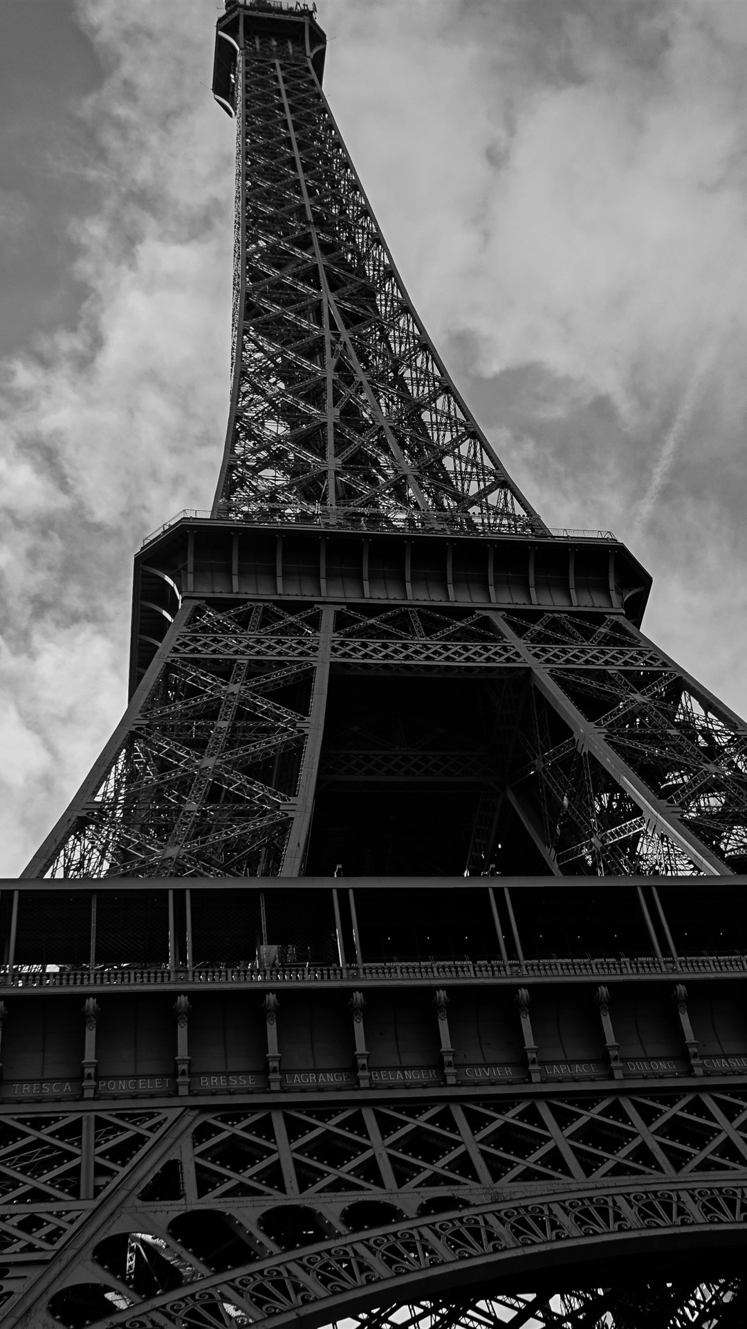 Eiffel Tower Black And White Picture 1242x2688 Iphone Xs