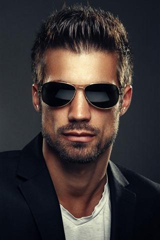 iPhone Wallpaper Man, glasses, fashion
