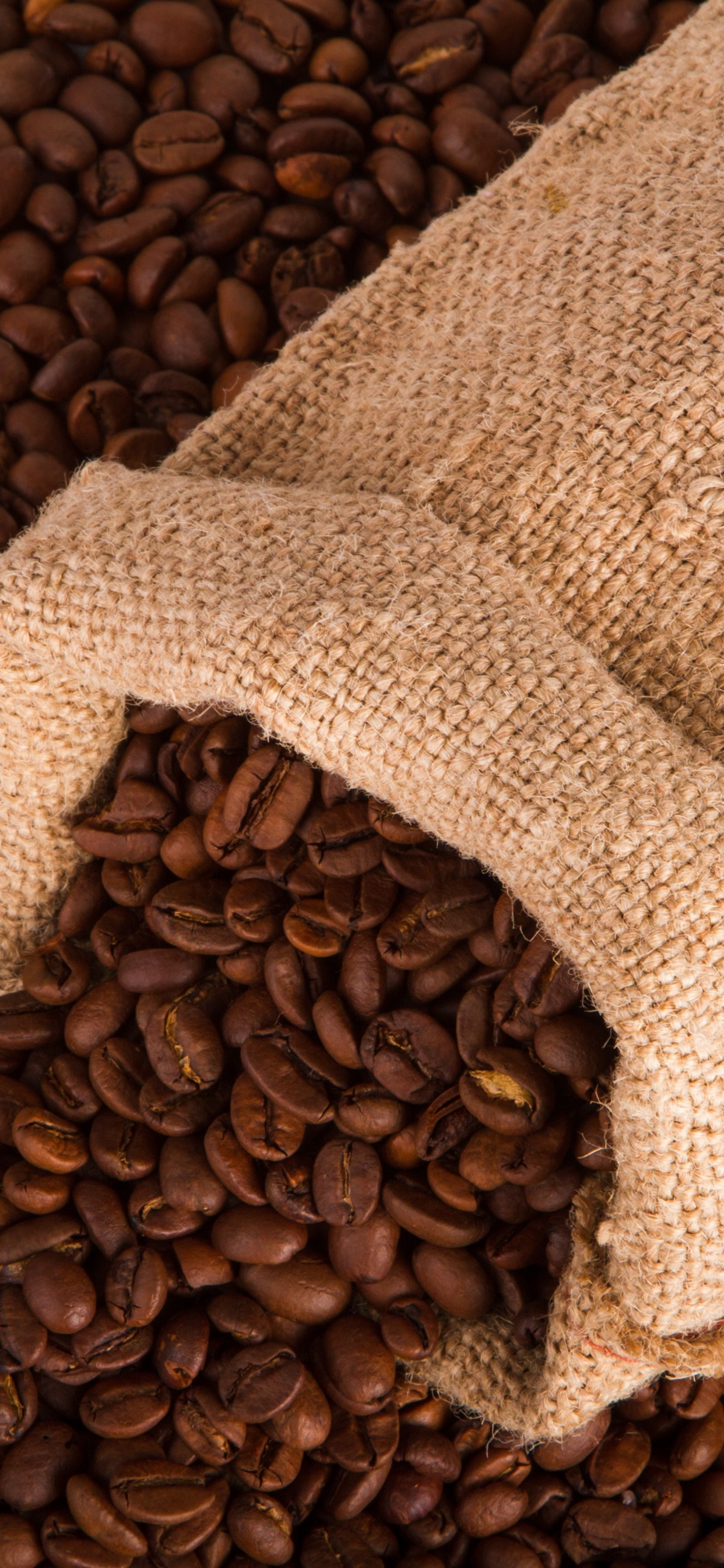 Many Coffee Beans One Bag 1242x2688 Iphone Xs Max Wallpaper