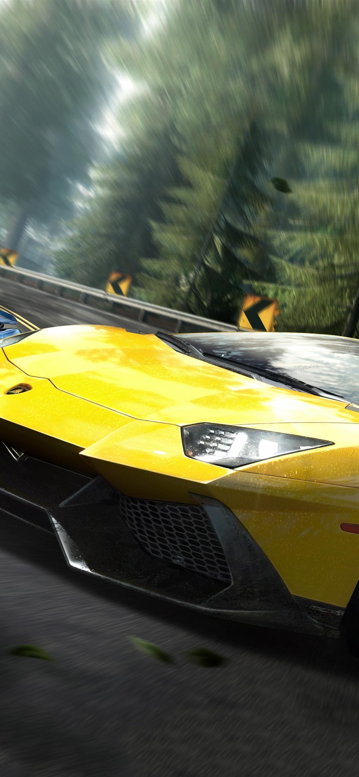 Need For Speed Lamborghini Yellow Supercar 1242x2688 Iphone 11