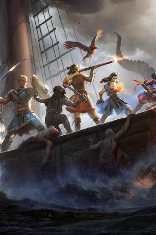 iPhone Wallpaper Pillars of Eternity II: Deadfire, RPG game