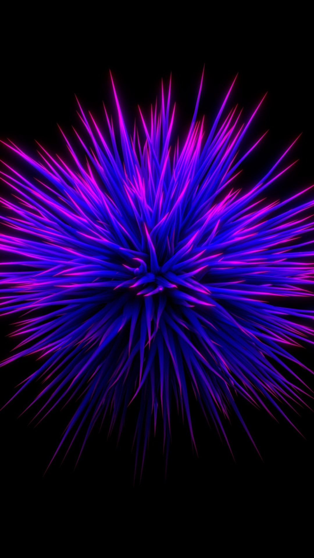 Wallpaper Purple Flower Thorn Black Background Abstract Picture