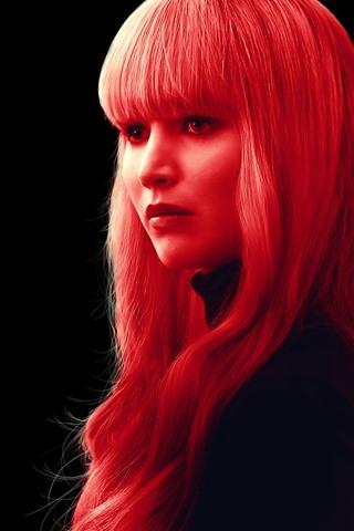 iPhone Hintergrundbilder Roter Spatz, Jennifer Lawrence