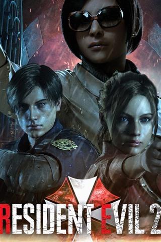 iPhone Papéis de Parede Resident Evil 2, jogo para PC, chuva