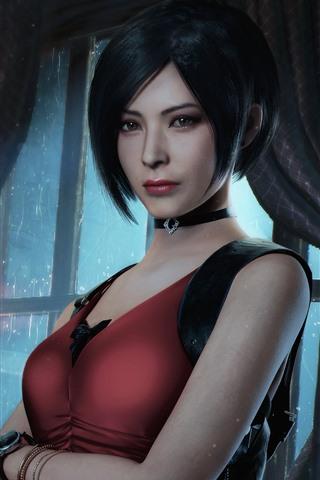 iPhone Papéis de Parede Resident Evil 2, garota de cabelo curto