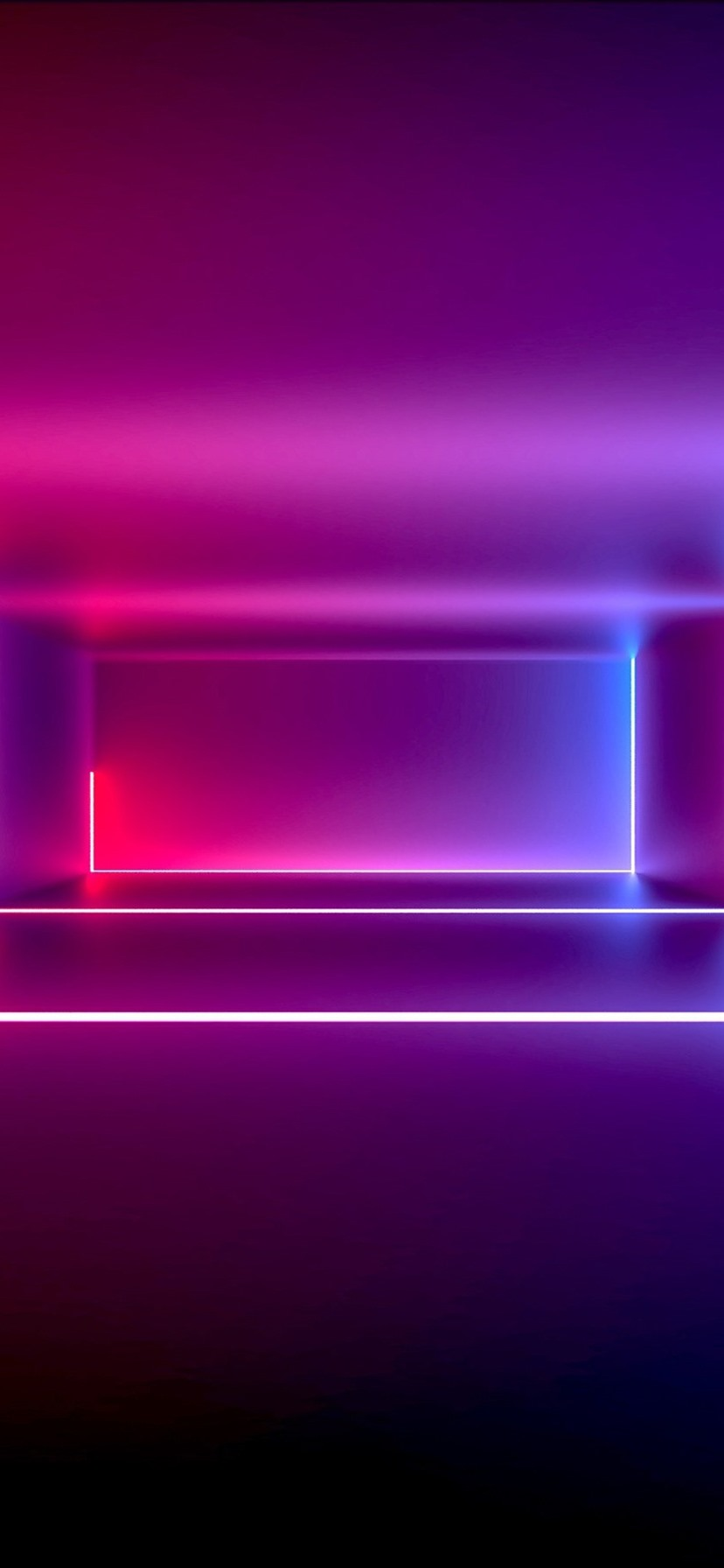 Room Neon Light Purple Style Abstract Design 828x1792