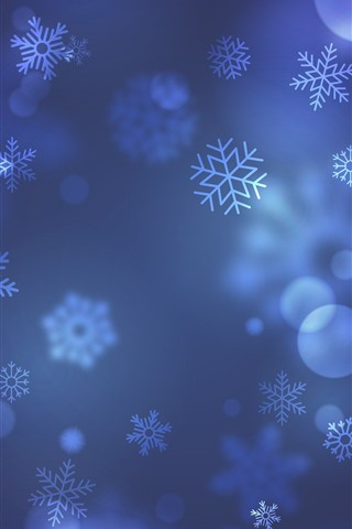 iPhone Wallpaper Snowflakes, art background