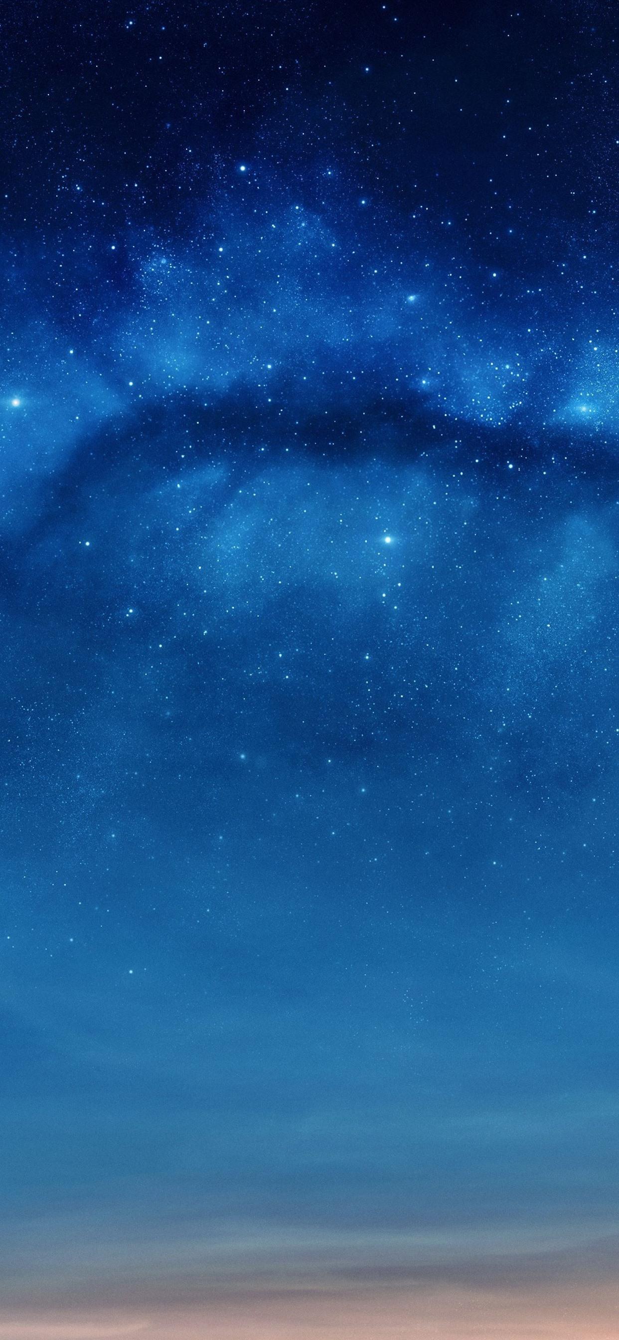 Fonds Décran étoiles Ciel Bleu Nuit 1242x2688 Iphone Xs