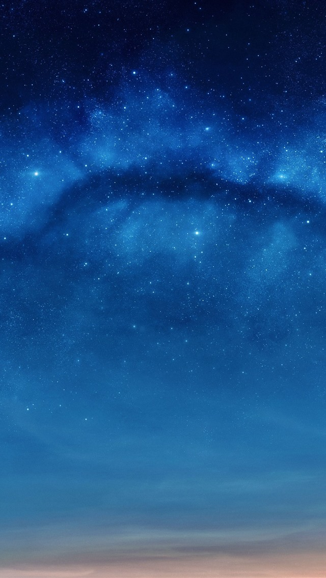 Fonds D Ecran Etoiles Ciel Bleu Nuit 1242x2688 Iphone Xs