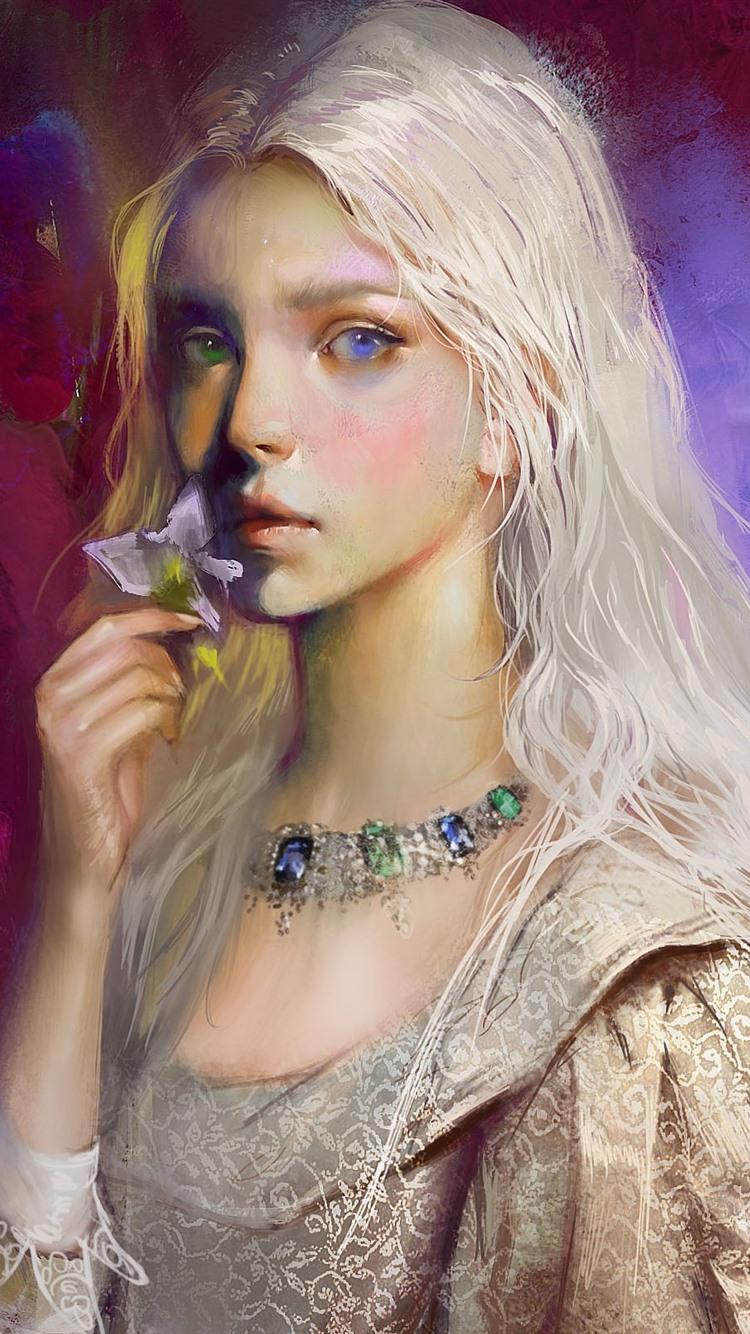 White Hair Art