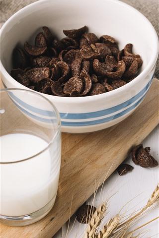 Chocolate Milk Food 1242x2688 Iphone Xs Max Wallpaper