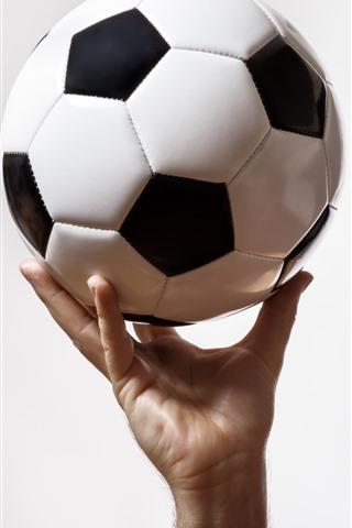 iPhone Wallpaper Football, hand