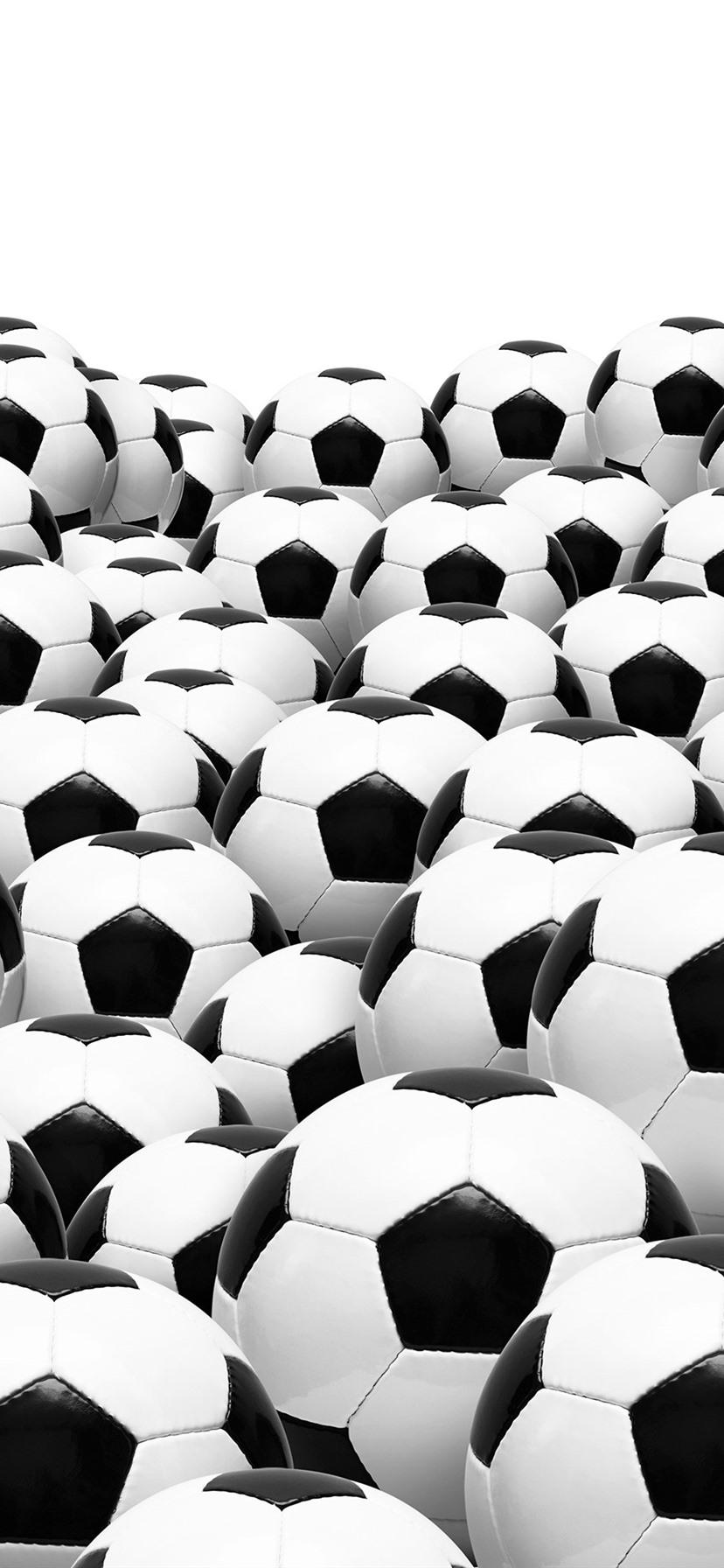 Many Footballs White Background 1080x1920 Iphone 8 7 6 6s