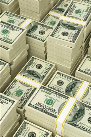 Many Packs Of Us Dollars Money