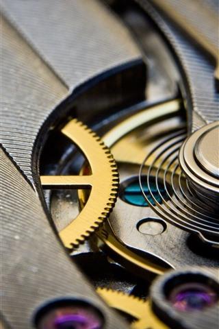 iPhone Wallpaper Mechanism watch, gears