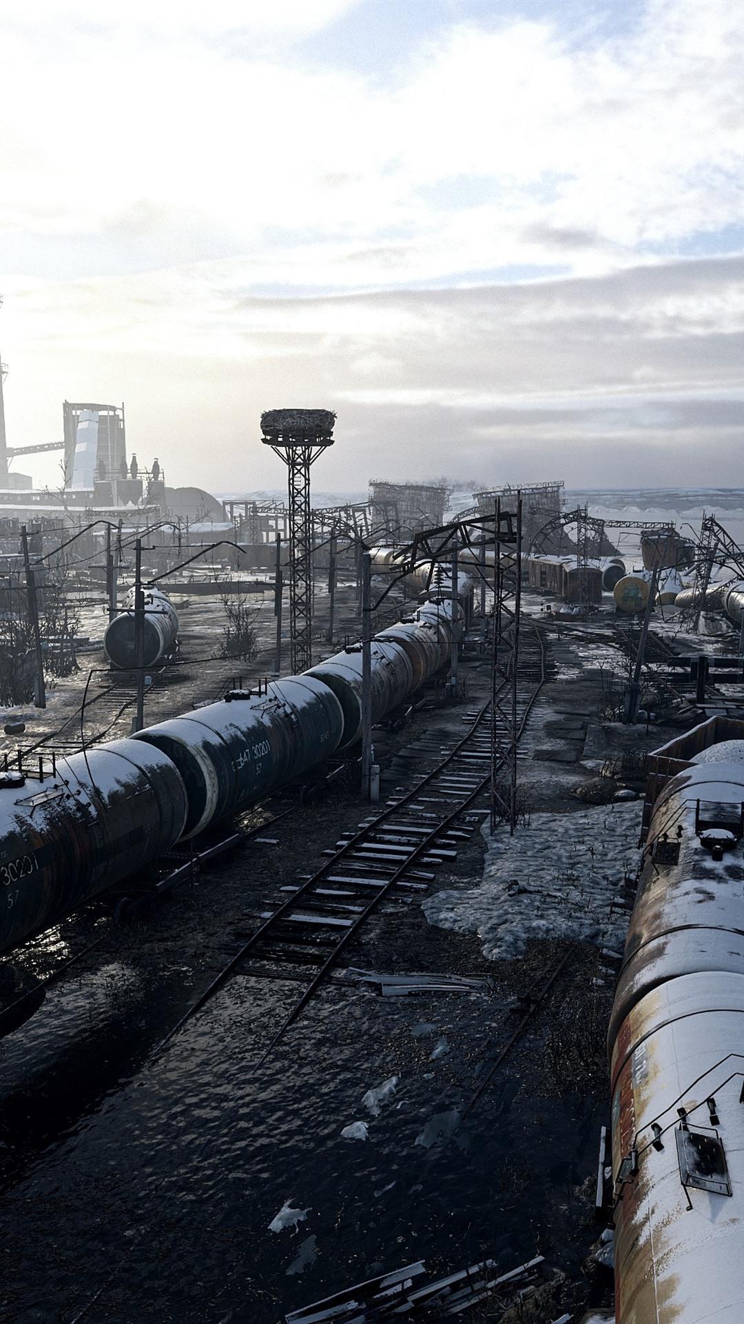 Metro Exodus Factory Snow Clouds 1080x1920 Iphone 876