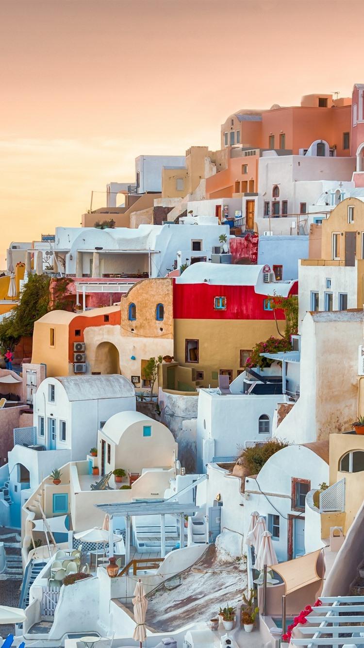 Wallpaper Oia Greece Houses Sea Aegean 2560x1600 Hd