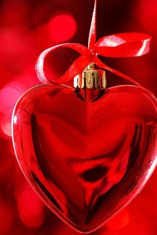 iPhone Papéis de Parede Coração vermelho amor, decoração, romântico