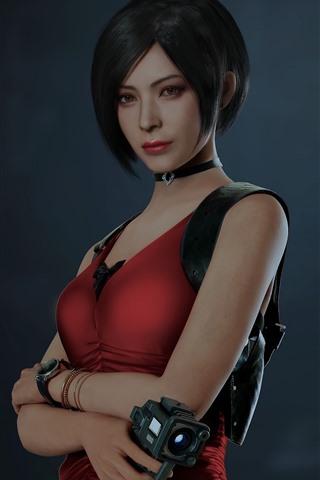 iPhone Papéis de Parede Garota de cabelo curto, Resident Evil 2