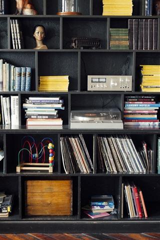 iPhone Wallpaper Study room, books