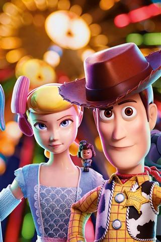 iPhone Papéis de Parede Toy Story 4, filme de desenho animado em 3D