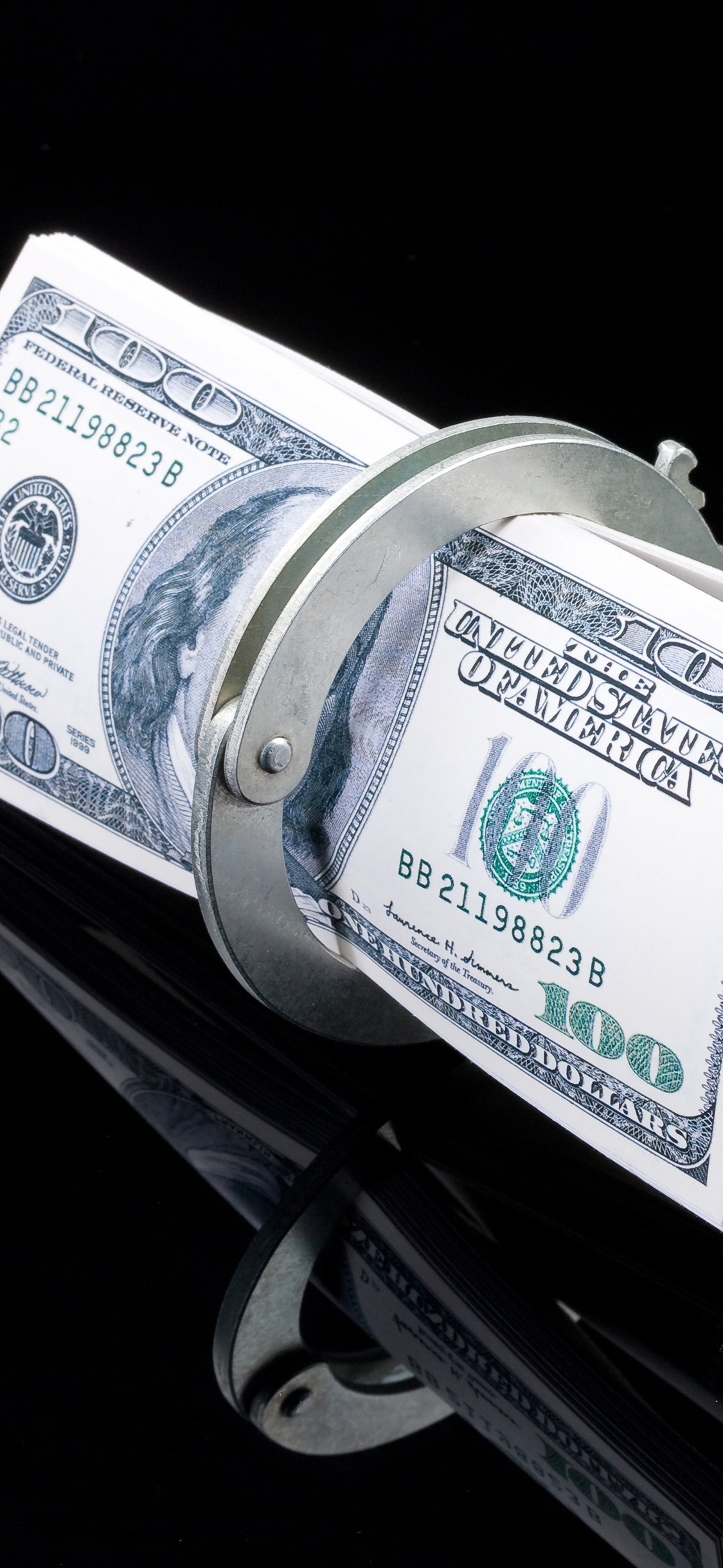 Us Dollar Handcuffs 1242x2688 Iphone 11 Pro Xs Max Wallpaper Background Picture Image
