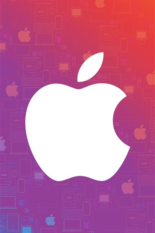 White Apple Logo Colorful Background 828x1792 Iphone 11 Xr Wallpaper Background Picture Image
