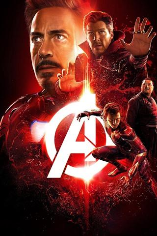 iPhone Wallpaper Avengers: Endgame, superheroes, black background