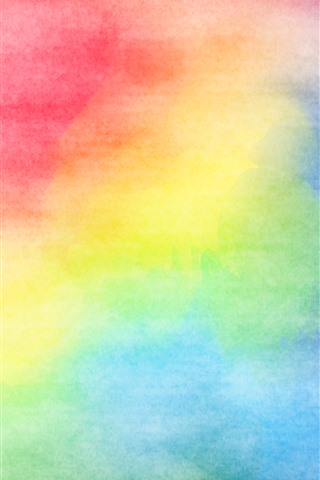 iPhone Wallpaper Colorful colors, watercolors, abstract picture