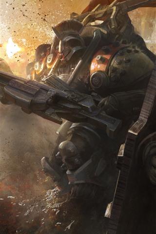 iPhone Papéis de Parede Destino, robô, guerra, imagem da arte do jogo