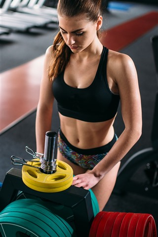 iPhone Wallpaper Fitness girl, gym