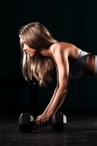 iPhone Wallpaper Fitness girl, pose, gym, yoga