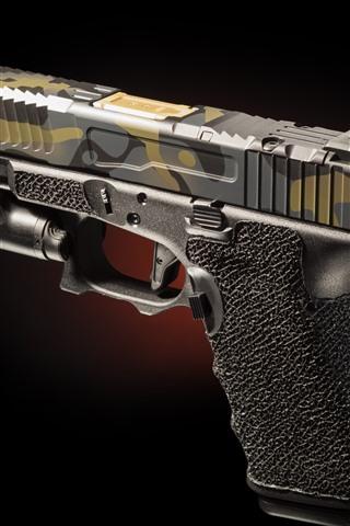 iPhone Wallpaper Gun close-up, weapon