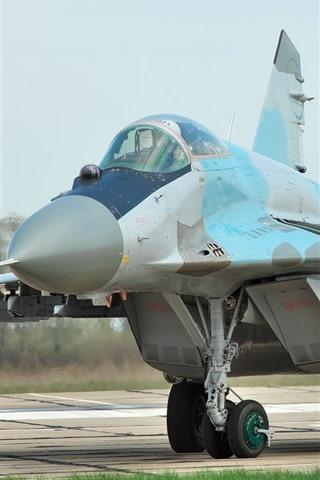 iPhone Wallpaper MiG-29 fighter, Ukraine