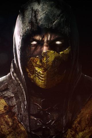 iPhone Wallpaper Mortal Kombat X, mask