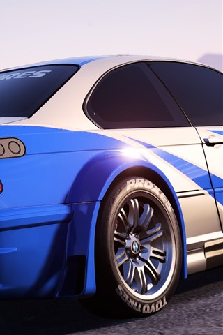 iPhone Wallpaper Need For Speed, BMW sports car back view