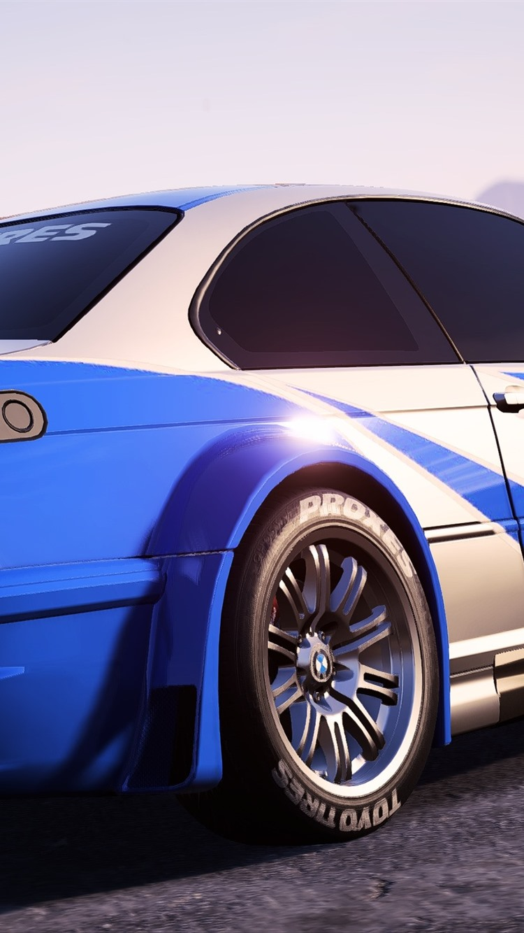 Need For Speed Bmw Sports Car Back View 750x1334 Iphone 8 7 6 6s