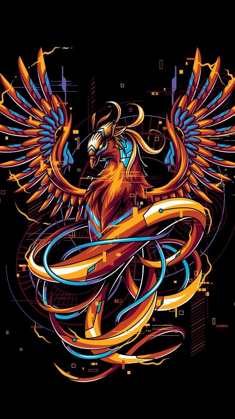 Phoenix Art Picture Creative Design 750x1334 Iphone 8 7 6
