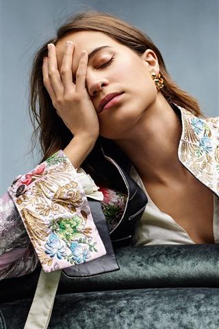 iPhone Wallpaper Sadness girl, pose
