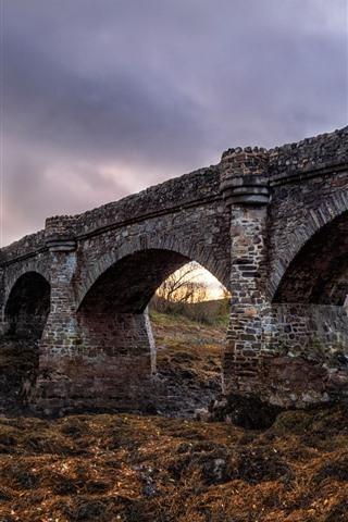 iPhone Wallpaper Scotland, The Eilean Donan Castle, bridge