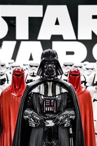 iPhone Wallpaper Star Wars, Darth Vader, soldiers