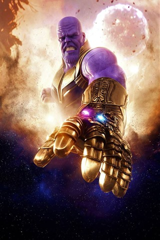 iPhone Wallpaper Thanos, DC comics, movie