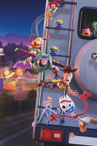 iPhone Papéis de Parede Toy Story 4, filme da Disney 2019