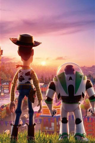 iPhone Papéis de Parede Toy Story 4, vista traseira